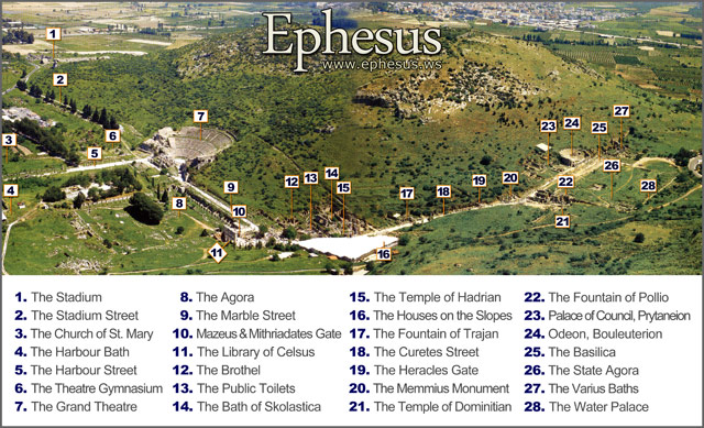 Ancient Ephesus map