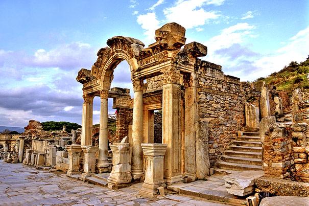 The Temple of Hadrian in Ephesus