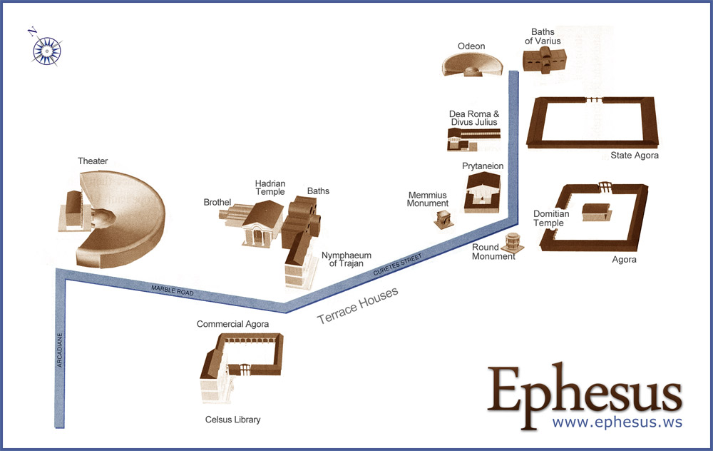 City map of Ephesus