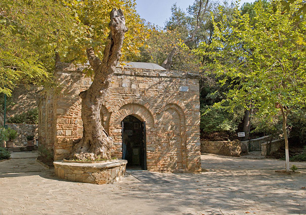 The Grotto of Virgin Mary in Ephesus